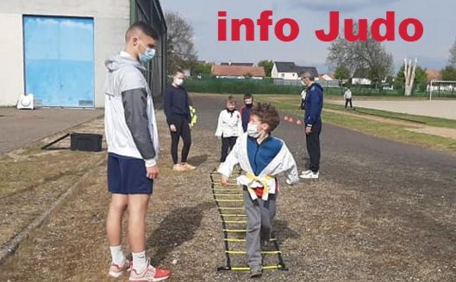 Infos judo - semaines à venir du 07 JUIN et après.....